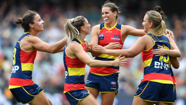 The Crows will host Carlton next Sunday in the AFLW grand final.