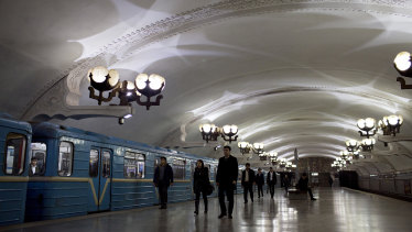 The subway in Tashkent, the capital of Uzbekistan.