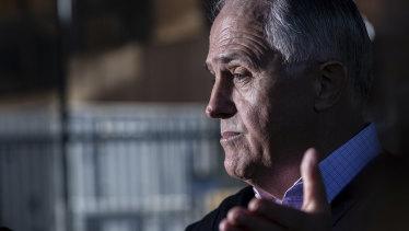 Malcolm Turnbull addresses the media in Sydney on Sunday.