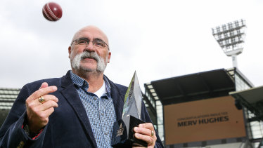 Merv Hughes has been inducted into the Australian Cricket Hall of Fame.