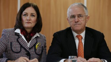 Sarah Henderson with Prime Minister Malcolm Turnbull.