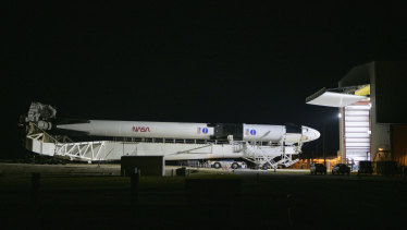 The SpaceX Falcon 9 in Florida.