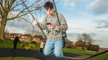 Tom Austin at his home in Milton Keynes, England: 'Anything I want to do, I'll just do it.'