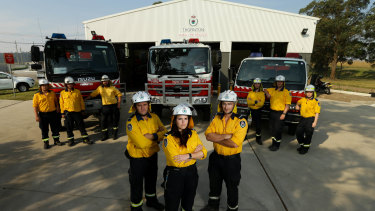 Volunteer firefighters from Thornton Rural Fire Brigade are ready for action.