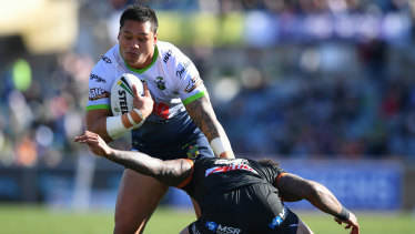 Raiders star Joey Leilua was as shocked as anyone that he won the Dally M centre of the year.