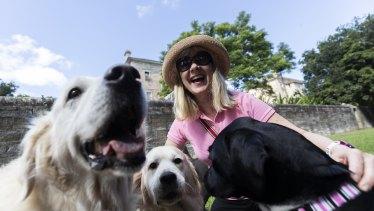 Louisa Larkin loves walking her dogs off-leash in Callan Park.