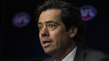 "AFL CEO Gillon McLachlan says ""we wouldn't have the game we have without community football""."
