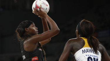 Shimona Nelson led the charge for the Magpies.