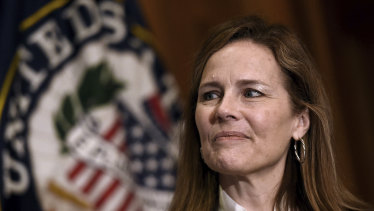 "An old directory lists Judge Amy Coney Barrett  as a ""handmaid"", a term for high-ranking female leaders, in the People of Praise religious group."