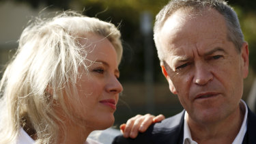 Bill Shorten and wife Chloe return home after a disastrous election result.