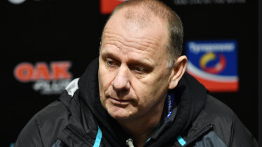 Port Adelaide coach Ken Hinkley is contracted for two more seasons.
