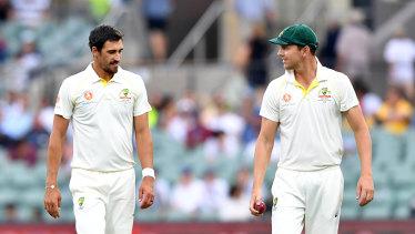 Mainstays in recent years, Mitchell Starc (left) and Josh Hazlewood's partnership is far from certain.