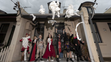 Kids celebrate Halloween at a private party in Balmain instead of trick or treating.