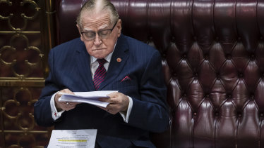 Christian Democrat MP Fred Nile has been in Parliament since 1981.