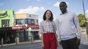Divya Shah and Foday Sesay are keen for a university to open in Blacktown.
