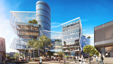 An artist's impression of the Blacktown Brain and Spinal Institute proposed by neurosurgeon Charlie Teo.