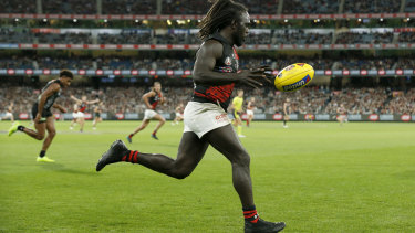 Anthony McDonald-Tipungwuti on the run for the Bombers.