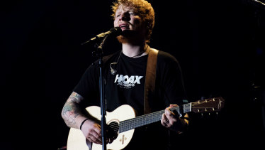 Warner Music gets a clip of the ticket when consumers stream Ed Sheeran songs.