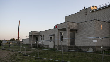 A migrant detention centre in an old school in Lithuania.