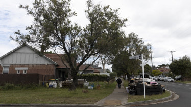 Edward Street in Bankstown, where the woman assumed control of a house after the death of her husband's relative.