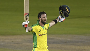 Glenn Maxwell played one of the best innings of his career in Australia's win over England.