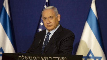Israeli Prime Minister Benjamin Netanyahu during a news conference in Jerusalem last week.