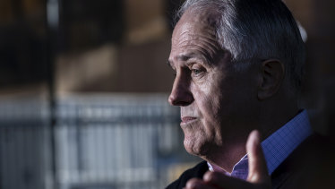 Malcolm Turnbull speaks at a press conference in Sydney on Sunday.