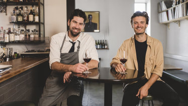 Head chef Louis Couttoupes and owner Nick Smith at Bar Rochford.