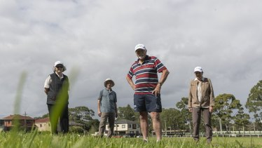 Members of the Canterbury Racecourse Action Group  at the car park the Australian Turf Club has applied to decommission.