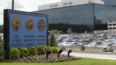 The National Security Agency  campus in Fort Meade, Maryland, where the US Cyber Command is located.