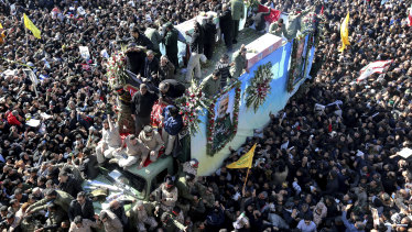 Dozens of people were killed in a stampede at the funeral service for General Qassem Soleimani.