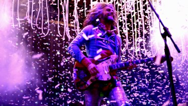 Wayne Coyne and The Flaming Lips performing at Sydney Festival in January 2016.