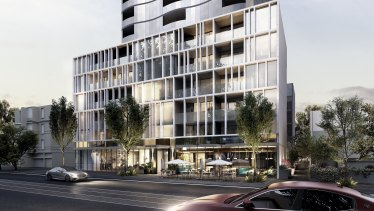 Renders of Milbex group's $120 million 'Park Ave' project at 39 Park Street, South Melbourne.