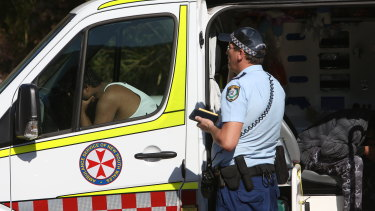 The man's distraught friends were taken to Wollongong Hospital for support services.