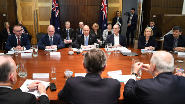 Treasurer Josh Frydenberg and state treasurers ahead of a COAG meeting on Wednesday.