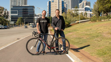 Chris Singleton (L) and Kingsley Fiegert (R) are pushing Cycliq into a global race.