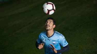 New ball game: Reza Ghoochanejhad is set for his Sydney FC debut on Friday night.