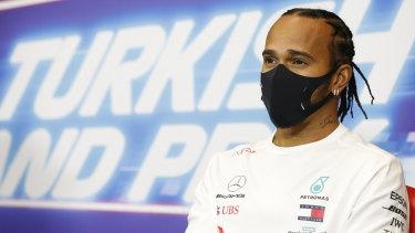 Mercedes driver Lewis Hamilton.