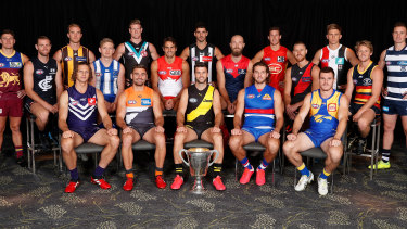 The 2020 collection: This year's AFL captains.