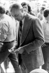 "Eddie ""The Fireman"" Birchley at Rosehill in 1974."