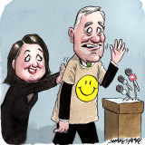 Constructive criticism: Jo Williamson and Michael McCormack.