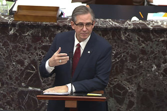 Bruce Castor presented then-president Donald Trump's defence case to the impeachment trial.