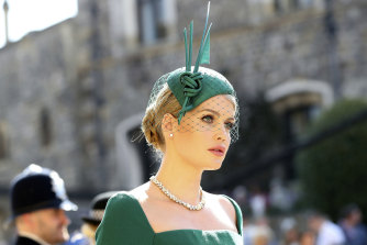 Lady Kitty Spencer at the 2018 wedding ceremony of Prince Harry and Meghan Markle.