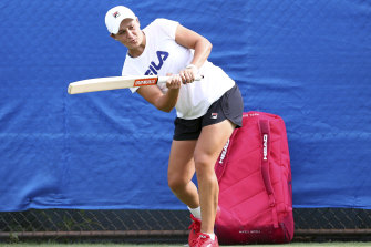 Ash Barty has found a few ways to fill in some time ahead of her first Brisbane International match.