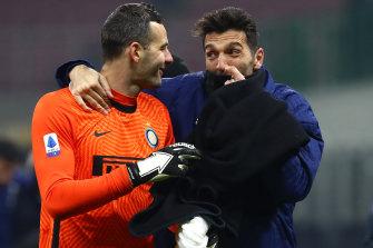 Gigi Buffon (right) allegedly used a blasphemous expression.