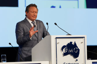 Andrew Forrest's Fortescue Metals reached fresh record highs on Monday, getting close to $12 per share.