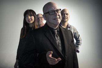 The Pixies: Paz Lenchantin, David Lovering, Black Francis, Joey Santiago.
