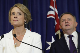 Labor frontbencher Kristina Keneally, pictured with close friend Anthony Albanese, is considering switching to the House of Representatives.