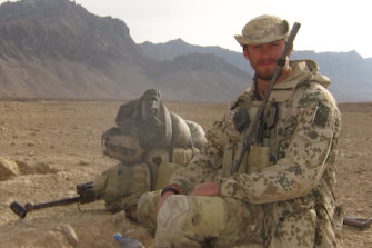 Australian commando David Wegman on deployment in Afghanistan.