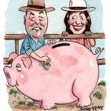 Federal Nationals treasurer Peter Schwarz is being challenged for his job by Queensland senator Susan McDonald. Illustration: John Shakespeare